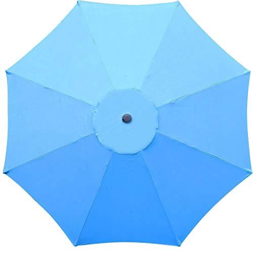 Sunnyglade 9ft Patio Umbrella Replacement Canopy Market Umbrella Top Outdoor Umbrella Canopy with 8 Ribs (Blue)