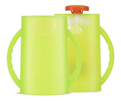 2 Pack of Baby Food Pouch and Juice Box Holder, Convenient Self-Feeding Utensil with No Squeezing and No Mess