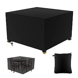 Housse de protection pour meubles de jardin – Imperméable – 420D – Résistant – En rotin Oxford – Coupe-vent – Anti-UV…