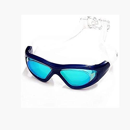 Cfilet Gafas Adultas de natación Hombres Professional Nadar Eyewear Anti Niebla A Prueba de Agua Gafas de Buceo Piscina Gafas. (Color : Blue)