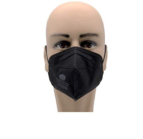 10x FFP2 Maske Atemschutzmaske ohne Ventil Mundschutz Schwarz