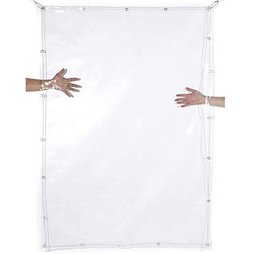 Lona Transparente Impermeable, Suave PVC El plastico Transparente Cubierta de Lona, Refugio de Lluvia para Pabellón Bote Jardín, De múltiples Fines Prueba de Intemperie, 400 g/m²