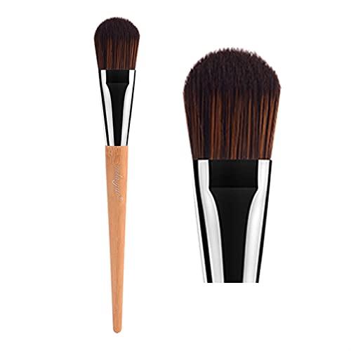 Maquillage pinceaux visage joue joue lèvres poudre fonde omberneuse montrant contour beauté pinceau outils sans cruauté (Handle Color : Foundation)