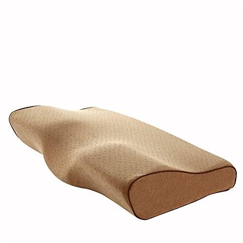 CTPLIKMH Bed Pillows Almohada de Ropa de Cama de Espuma de Memoria - Poliéster/algodón Ergonómico Almohada Cervical - Protección de Cuello Pillow Almohada Pillows (Color : Camel, Size : 60x34cm)
