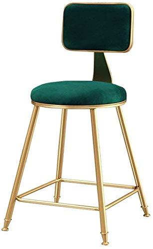 Muebles tapizados taburete silla taburete con respaldo,65CM