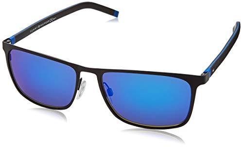 Tommy Hilfiger TH 1716/S Gafas de Sol, MTBLKBLUE, 57 para Hombre