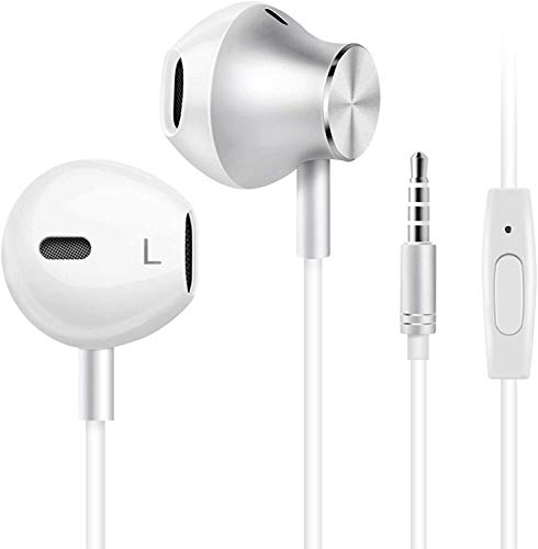Wired Headphones, Amoner Earbuds Waterproof Sports Earphones, Stereo Sound Headphones Headsets with Built-in Mic for Phone 6/6s Plus/5s/SE, Galaxy, Android Smartphones, Tablets