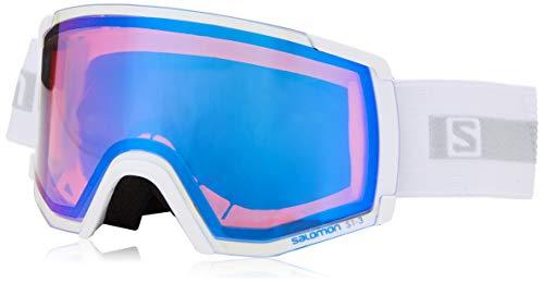 Salomon, S/VIEW PHOTO,Máscara de esquí, Unisex,Ajuste Mediano-Pequeño, Blanco/AW Blue, L41190900