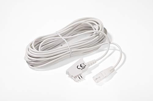COXBOX DSL Kabel Fritzbox, Speedport, Easybox - 10 m TAE Kabel RJ45 weiß - VDSL ADSL WLAN Router-Kabel mit Twisted Pair für eine zuverlässige Verbindung