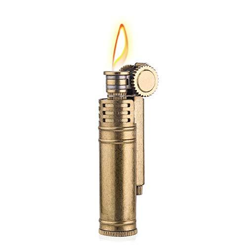 Mechero de queroseno clásico, cobre resistente al viento, colección de encendedor de latón/decorativo/regalo
