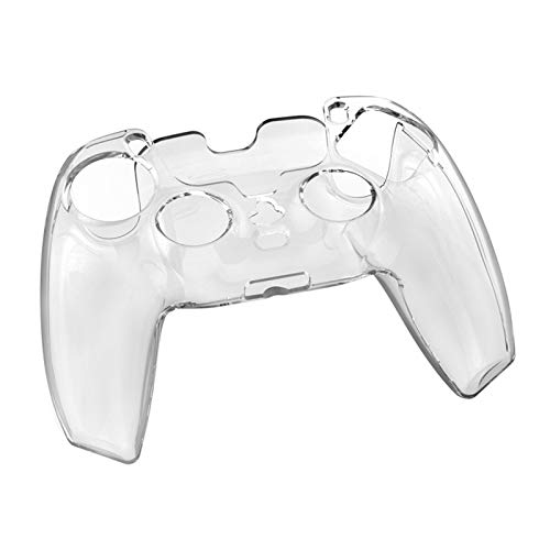 Jiamins Suave Luz Duradera de PC Duro Transparente Carcasa de la Cubierta de la Cubierta de la Cubierta de la Piel para el Controlador de Playstation 5 PS5