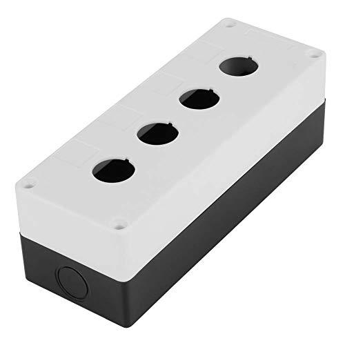 BX4 22mm Switch Box, Vier-Loch-Drucktaste Switch Control Box Schutzhülle Wasserdicht(Weiß)