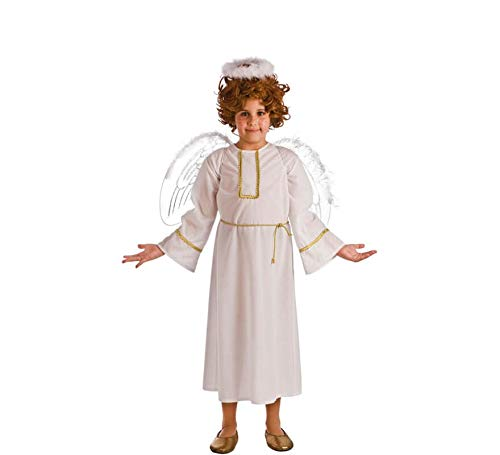 El Rey del Carnaval Disfraz de Ángel Blanco para niños