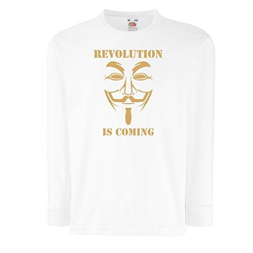 lepni.me Kids T-Shirt De Revolutie komt - Het Anonieme Hackers masker, V voor Vendetta