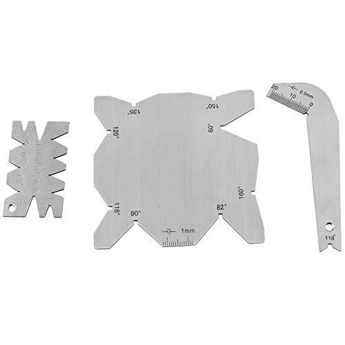 3 unids/set brocas de calibre de ángulo Dirll afilador de herramientas S/S medidor de ángulo de medición de ángulo