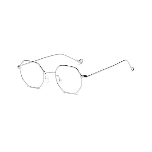 Gafas de sol deportivas, gafas de sol vintage, NEW Women Hexagon Sunglasses Retro Vintage Clear Sun Glasses For Men Luxury Metal Eyewear Octagon Shades Lunette 8