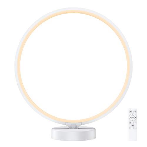 Lampe d'ambiance, lampe de chevet à intensité variable PREKIAR LED avec télécommande RF, 6 modes d'éclairage,...