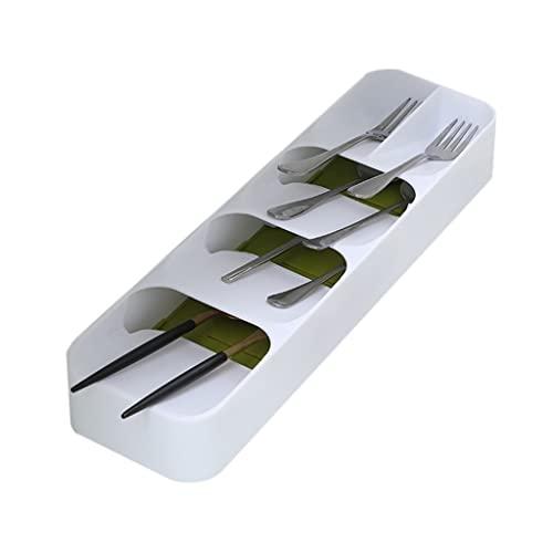 Cestas para cubiertos Caja de Almacenamiento de Cubiertos Cajón del gabinete de Cocina Caja pequeña separada Cubiertos Cuchara Caja organizadora de Utensilios de Cocina
