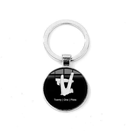 Twenty One Pilots Llavero Punk Rock Moda Banda de Música Logo 3D Impr