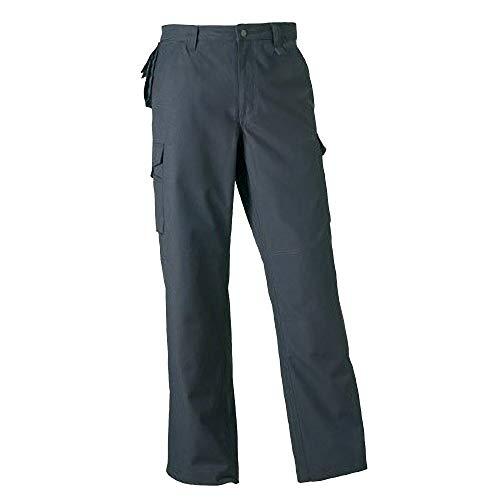 Russell Work Wear Herren Arbeitshose, robust, Standard-Beinlänge (W40 x Regulär) (Grau)