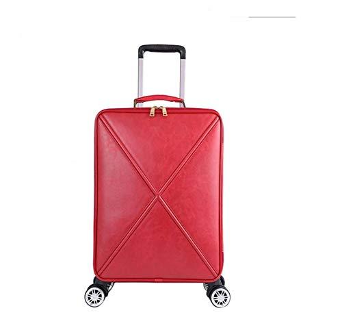 N-B Trolley Suitcase Female Belt Handbag Retro Business Female Suitcase Trim Boarding 16/18/20/24 Inch Travel Bag