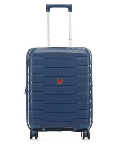 Roncato Skyline Maleta Cabina avión Expansible Azul, Medida: 55 x 40 x 20/25 cm, Capacidad: 41/47 l, Pesas: 2.6 kg, Maleta Cabina avión ryanair