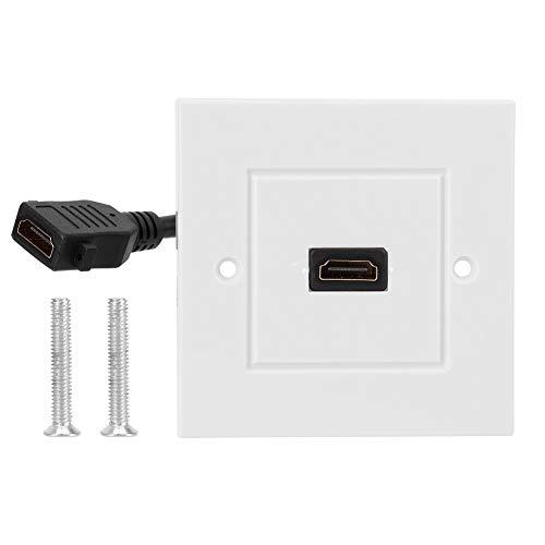 Duokon HDMI wandplaat paneel met kabel voor hotel Home Office Building wit met schroef