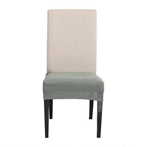 1/2/4 stuks stretch keuken stoelhoezen anti-vuile eetkamer stoel beschermhoezen verwijderbare elastische stoelhoes beige hoes, groen, 6st