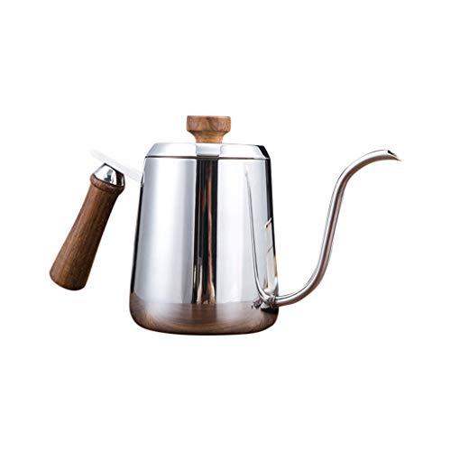 Eldori ドリップポット 細口 ドリップケトル コーヒードリッパー やかん ステンレス製 フタ付き コーヒー ポット ドリップコーヒー ケトル ドリップポット、600ml