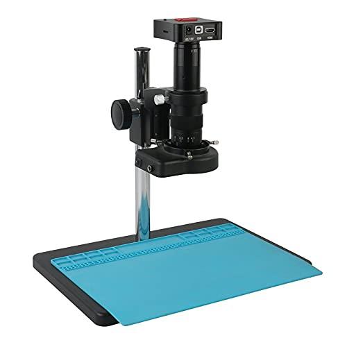GYW-YW Lente 4K UHD 50MP HDMI USB Microscopio de Video Cámara de microscopio 180x 300x Lupa Digital Electrónica para Lab/PCB Soldadura de joyería (Color : A, Magnification : 300x)