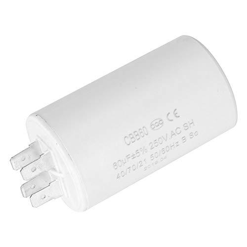 Condensador de funcionamiento CBB60, condensador de funcionamiento cilíndrico fiable, para motobomba
