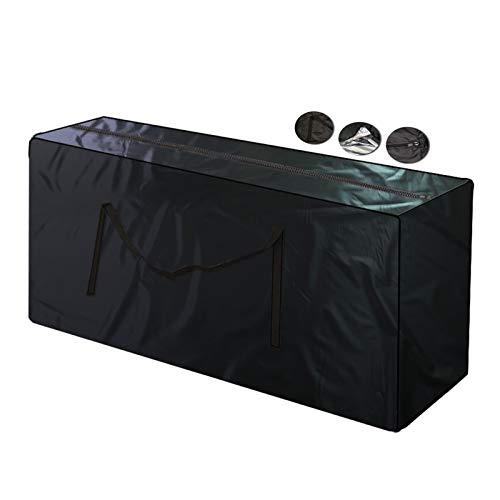 LITINGFC-Garden Furniture Cover,Oxford Fabric Waterproof Dustproof Anti-UV Outdoo Patio Furniture Storage Bag,3 Sizes (Color : Black, Size : 173X76X51CM)