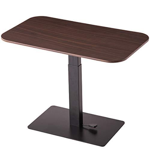 タンスのゲン昇降テーブル幅90cmガス圧式高さ調節無段階昇降ブラウン4540003400【71697】