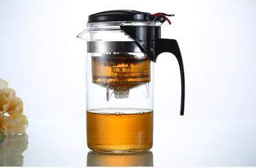 RMLC 500/750 / 1000ML Tetera de Vidrio Resistente al Calor Tetera Tetera China Juego de té Tetera de café Tetera Cómodo Juego de té de Oficina, Tetera de 1000 ml
