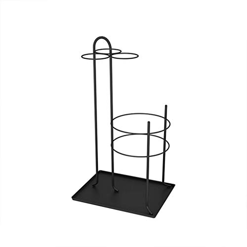 qingtianlove Portaombrelli in Ferro 60CM × 33CM Porta-Canna da Giardino in Metallo per Hotel portaombrelli (Color, Black),Black