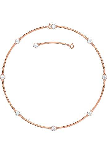 Swarovski Collar Constella, Blanco, Baño tono oro rosa