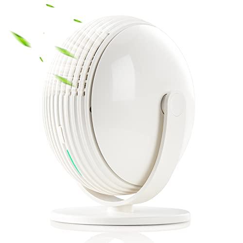 SmartDevil Ventilador USB,Ventilador Sin Aspas,Mini Ventilador USB Silencioso con Gancho,3 Velocidades,Personal Portátil Ventilador, para Oficina/Hogar/Viajar/Acampar,Alimentado por USB (Blanco)