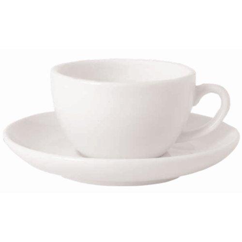 Classique Blanc Dimensions soucoupe Petit déjeuner: 160mm (6,25 \