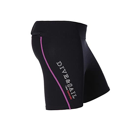 Dive & Sail Snorkeling Rash Guard Pantalones cortos de piel para hombres y mujeres (morado, L)