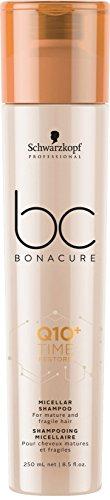 Schwarzkopf Professional BONACURE Q10 Time Restore Ageless Micellar Shampoo, 3er Pack (3 x 250 ml)