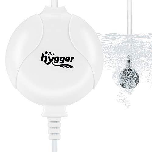 Hygger Quiet Aquarium Air Pump 1.5 Watt Energy Saving Mini Oxygen Pump for 1-15...