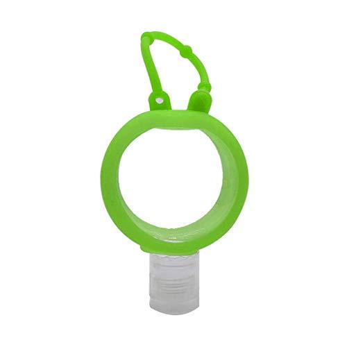 YOYOHO Envase exprimible Recargable de Botella de Viaje vacía de Silicona - Verde