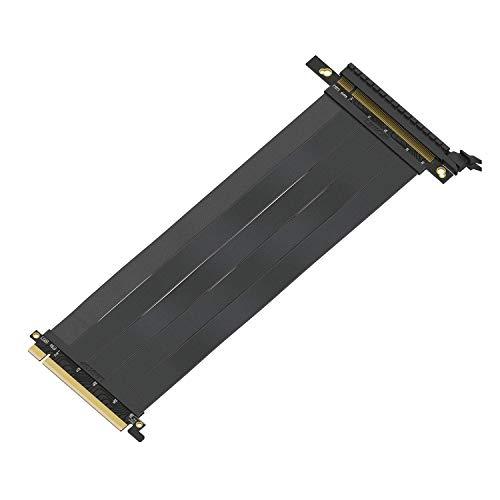 LINKUP - {25 cm} 16x Riser Kabel Super Abgeschirmt Twinaxial PCI Express Steigleitung Kabel Portverlängerungs-Platte 2020 Rev | Gerade Buchse – TT kompatibel