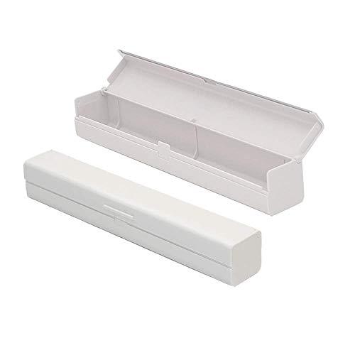 Dream HorseX Cortador para Film-Aluminio Cutter Dispensador, PP Plástico Dispensador Envoltura para Film Transparente, Papel Aluminio, Cocina Casera, Restaurante, Blanco, 31.7 * 5 * 4.7CM