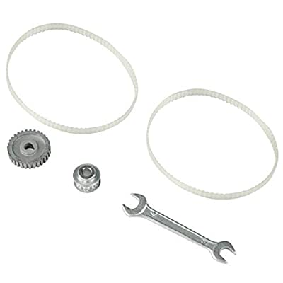 "FlowerW 3PCS Gear Belt Kit Timing Belt Pulley+Closed-Loop Synchronous Timing Belt+30T Lathe Gear Fits Asian Mini Lathe 7"" x 10"",12""& 14"""