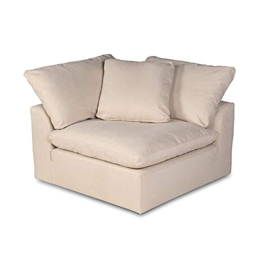 Sunset Trading Cloud Puff Sectional Corner Chair, Configurable, Tan