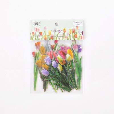 40 pcs/Bag Romantic Wind Flowers Decorative Diary Notebook Album Stickers