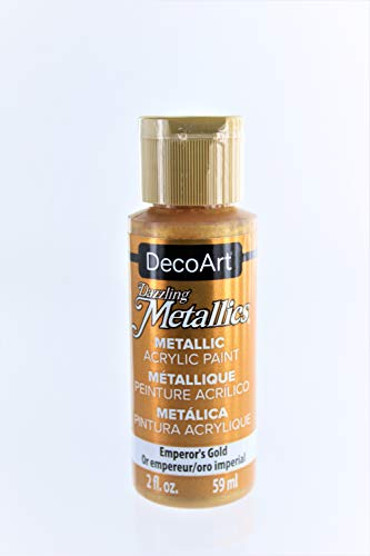 2-Pack - DecoArt Dazzling Metallics Acrylic Colors - Emperor's Gold 2-Ounces Each