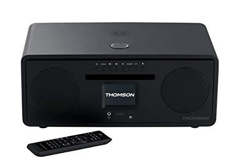 Thomson MIC500IWF Microsystem (WiFi, Ethernet Bluetooth, Induktionsladegerät, USB-Player, Radio) schwarz