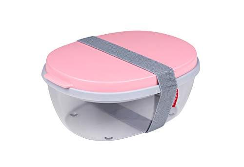 Mepal salatbox Ellipse - Nordic pink Plastik, 22.5 x 17.5 x 9.5 cm
